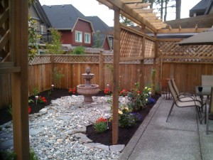 Another shot of Backyard reno in progress in South Surrey - Ladybug Landscaping ltd
