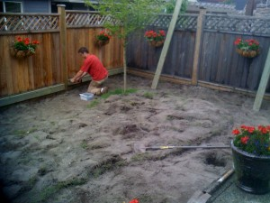 Backyard reno in South Surrey : BEFORE - Ladybug Landscaping ltd
