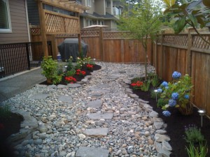 Backyard reno in progress in South Surrey - Ladybug Landscaping ltd
