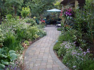 A beautiful stone path. More work for the Dearden's  - Ladybug Landscaping