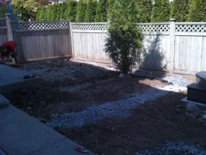 Landscape reno backyard in Langley - Ladybug Landscaping Ltd