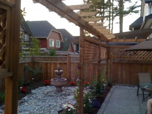 Privacy pergola and backyard reno in South Surrey - Ladybug Landscaping Ltd