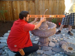 Water feature installation in South Surrey - Ladybug Landscaping Ltd